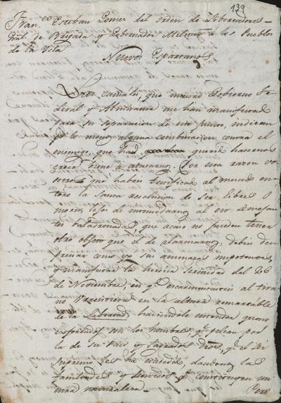 Proclama del Gobernador Militar de la isla, Francisco Esteban Gómez, a los pueblos de Margarita, exhortándoles a que perezcan antes de caer en manos realistas. Ciudad de Nueva Esparta, 2 de junio de 1817.