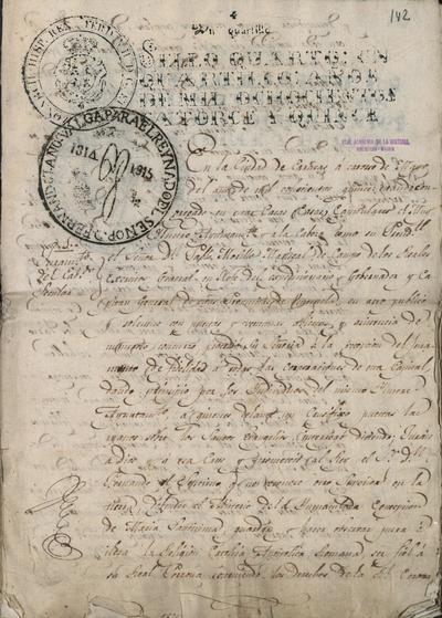 Testimonio del juramento de fidelidad al Rey de los Cabildos y demás autoridades de Caracas. Caracas, 14 de mayo de 1815.