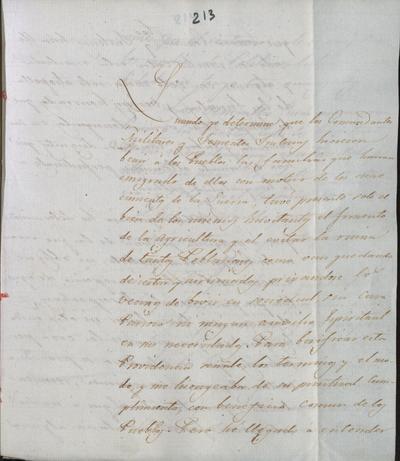Circular a los Comandantes Militares, al brigadier Morales y Real y al Coronel Calzada y al señor La Roque acerca de la vuelta a los pueblos de las gentes que los habían abandonado por causa de la guerra. Cuartel General de la Victoria, 25 de septiembre de 1818.