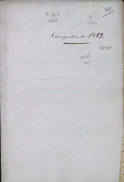 Ejército Expedicionario: Campaña de 1819: Resumen histórico, por Juan Cini, 2° Coronel del Cuartel General de Calabozo.