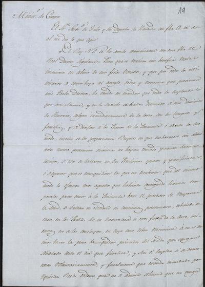 Comunicación de Camposagrado a Morillo sobre lo resuelto por S. M. con los que tienen sus destinos en tierras americanas y todavía están en la península. Madrid, 24 de febrero de 1816.