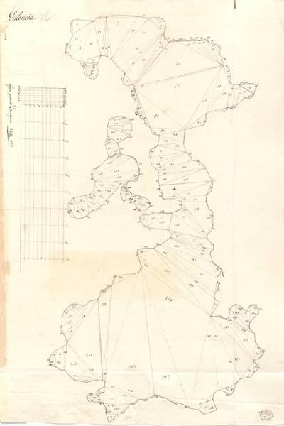 Planes que han servido para averiguar la superficie de las Provincias de España, y de sus Islas adyacentes Provincia de Palencia [Material cartográfico]