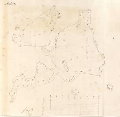 Planes que han servido para averiguar la superficie de las Provincias de España, y de sus Islas adyacentes Partidos de Madrid y Almonacid de Zorita [Material cartográfico]