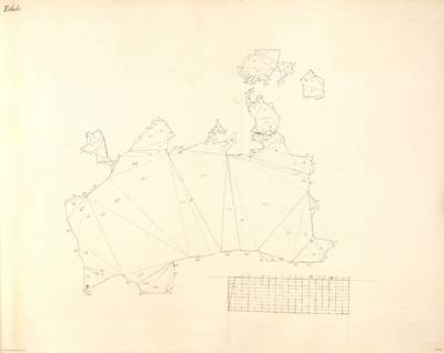 Planes que han servido para averiguar la superficie de las Provincias de España, y de sus Islas adyacentes Provincia de Toledo [Material cartográfico]