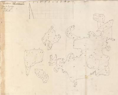Planes que han servido para averiguar la superficie de las Provincias de España, y de sus Islas adyacentes Provincia de Guadalajara [Material cartográfico]