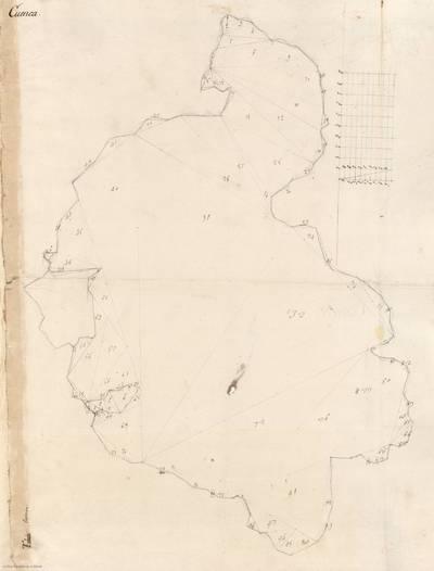 Planes que han servido para averiguar la superficie de las Provincias de España, y de sus Islas adyacentes Provincia de Cuenca [Material cartográfico]