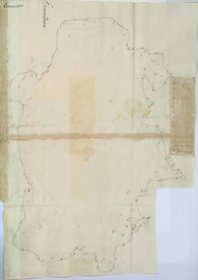 Planes que han servido para averiguar la superficie de las Provincias de España, y de sus Islas adyacentes Provincia de Extremadura [Material cartográfico]
