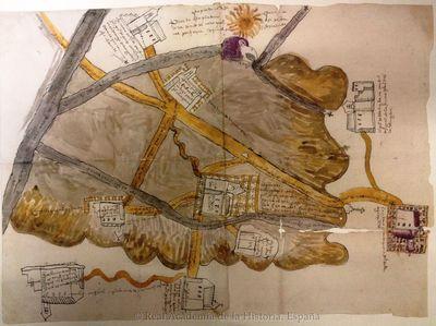 [Mapa del pueblo de Itztepexic y sus alrededores en el valle de Oaxaca] [Material cartográfico]
