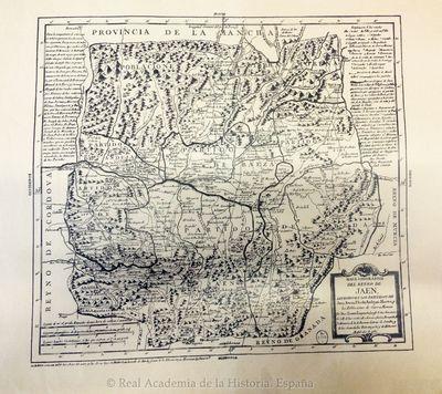 Mapa geográfico del Reyno de Jaén, dividido en los Partidos de Jaén, Baeza, Úbeda, Andújar, Martos y las Poblaciones de Sierra Morena [Material cartográfico]