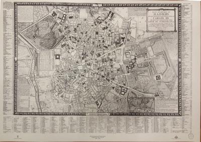 Plano geométrico de Madrid. Dedicado y Presentado al Rey Nuestro Señor Don Carlos III por mano del Excelentisimo Señor Conde de Floridablanca [Material cartográfico]