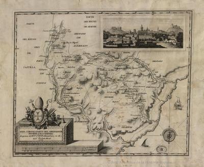 Mapa corographico del obispado de Segorbe, y sus confines [Material cartográfico]