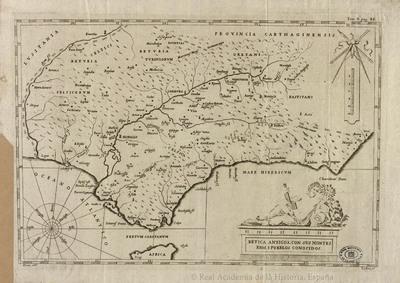 Betica antigua, con sus montes, rios i pueblos conocidos [Material cartográfico]