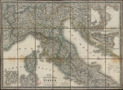 Carta statistica e postale dell'Italia [Material cartográfico]