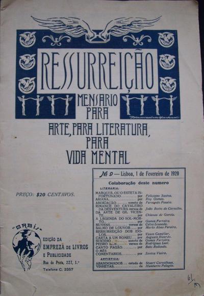 Ressurreição: mensário para a arte, para a literatura, para a vida mental