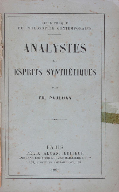 Analystes et esprits synthétiques