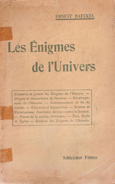 <Les >énigmes de l'univers