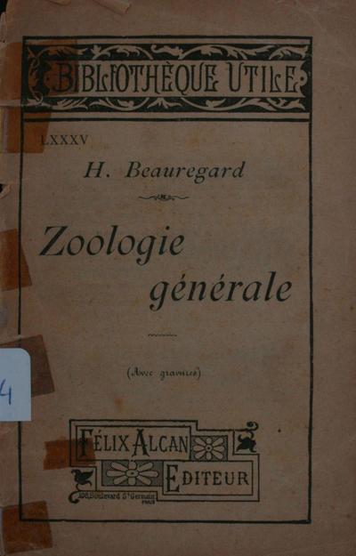 Zoologie générale