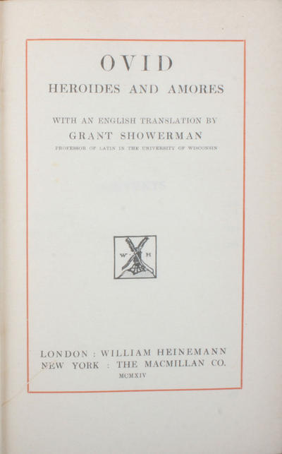 Heroides and amores