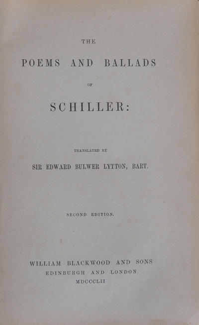 <The >poems and ballads of Schiller
