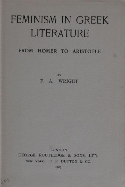 Feminism in greek literature
