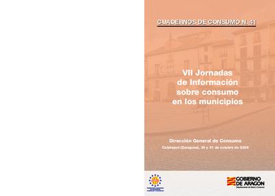 VII Jornadas de Información sobre consumo en los municipios : Sede de la UNED Calatayud, 30 y 31 de octubre.