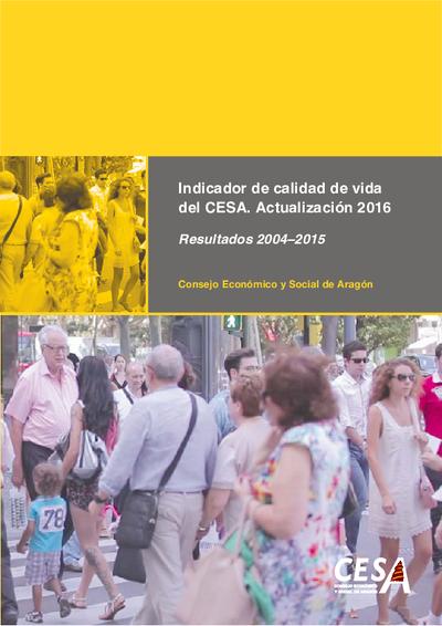 Indicador de calidad de vida del CESA resultados 2004-2015.