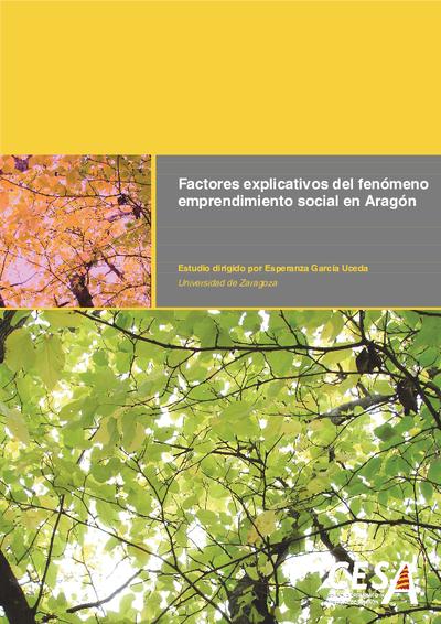 Factores explicativos del fenómeno emprendimiento social en Aragón