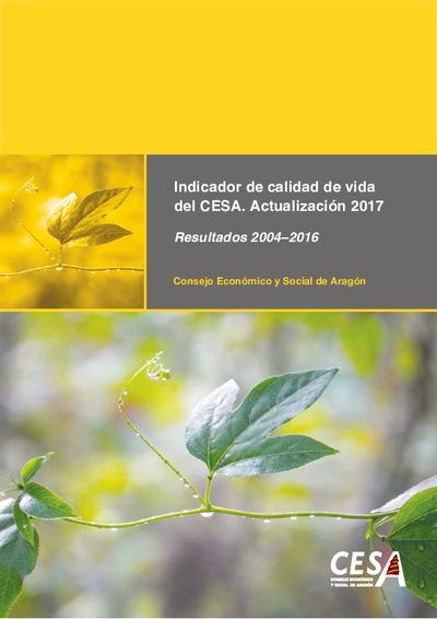 Indicador de calidad de vida del CESA resultados 2004-2016.