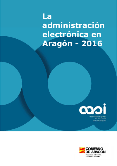 La administración electrónica en Aragón, 2016