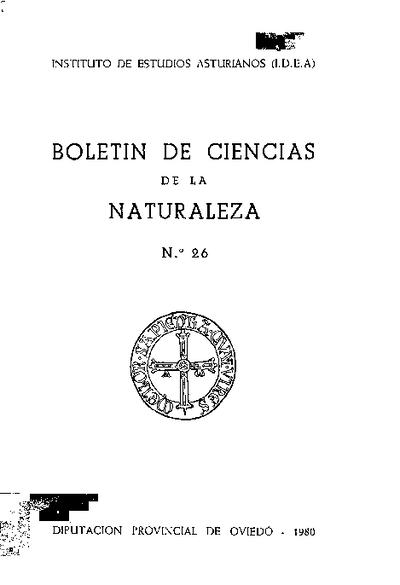 Boletín del Instituto de Estudios Asturianos (Suplemento de Ciencias): Año XVII Número 26 - 1980