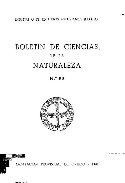 Boletín del Instituto de Estudios Asturianos (Suplemento de Ciencias): Año XVIII Número 28 - 1981