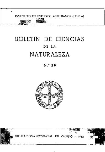 Boletín del Instituto de Estudios Asturianos (Suplemento de Ciencias): Año XIX Número 29 - 1982