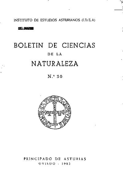 Boletín del Instituto de Estudios Asturianos (Suplemento de Ciencias): Año XIX Número 30 - 1982