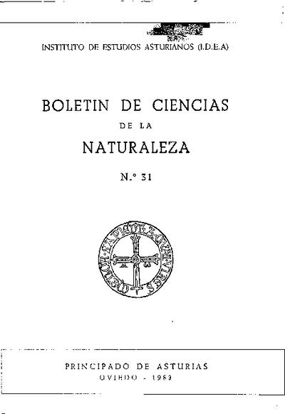 Boletín del Instituto de Estudios Asturianos (Suplemento de Ciencias): Año XX Número 31 - 1983