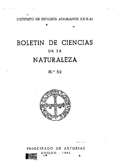 Boletín del Instituto de Estudios Asturianos (Suplemento de Ciencias): Año XI Número 32 - 1983