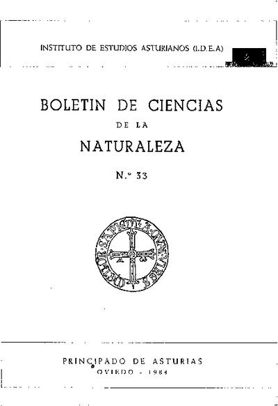 Boletín del Instituto de Estudios Asturianos (Suplemento de Ciencias): Año XXI Número 33 - 1984