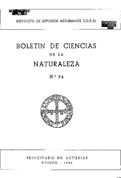 Boletín del Instituto de Estudios Asturianos (Suplemento de Ciencias): Año XXI Número 34 - 1984