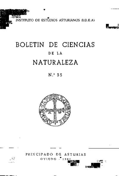 Boletín del Instituto de Estudios Asturianos (Suplemento de Ciencias): Año XXII Número 35 - 1985
