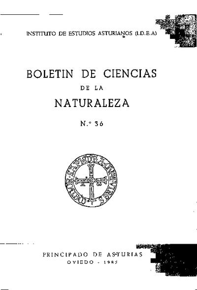 Boletín del Instituto de Estudios Asturianos (Suplemento de Ciencias): Año XXII Número 36 - 1985