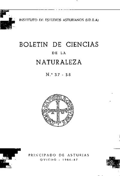 Boletín del Instituto de Estudios Asturianos (Suplemento de Ciencias): Año XXIII Número 37-38 - 1986