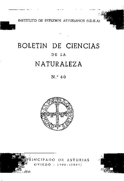 Boletín del Instituto de Estudios Asturianos (Suplemento de Ciencias): Año XXV Número 40 - 1990