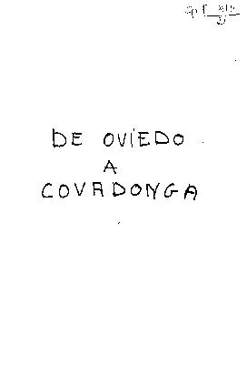 De Oviedo a Covadonga apuntes de un viaje