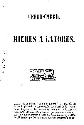 Ferro-carril de Mieres a Latores
