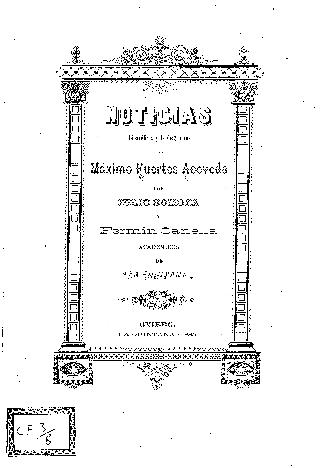 Noticias biográficas y bibliográficas de Máximo Fuertes Acevedo