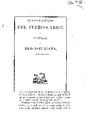 Nuevo trazado del ferro-carril a Castilla y red asturiana
