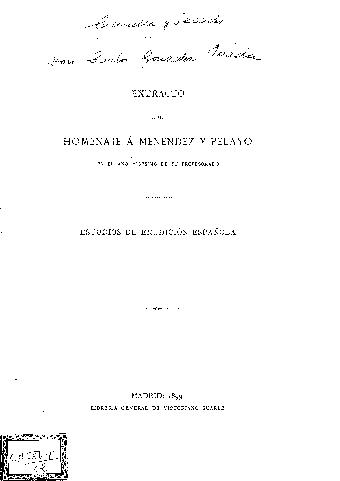 D. Carlos González de Posada : (notas bio-bibliográficas)