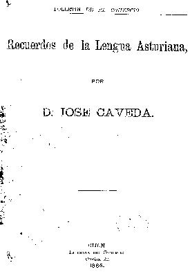 Recuerdos de la lengua asturiana