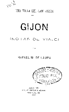 Una villa del Cantábrico : Gijón : notas de viaje