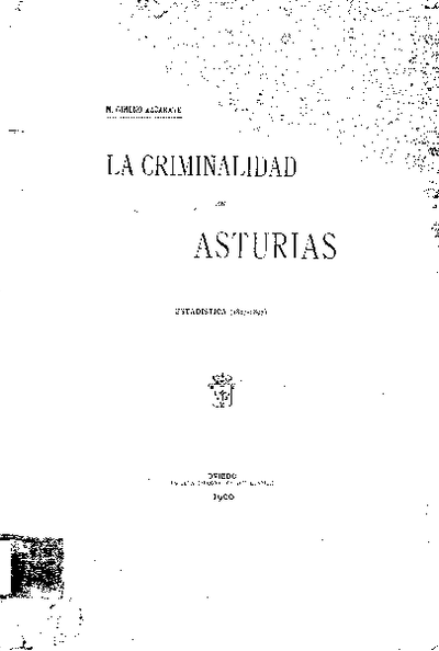 La criminalidad en Asturias estadística (1883-1897)