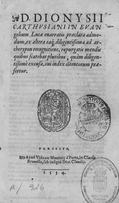 D. Dionysii Carthusiani in Evangelium Lucae enarratio ...